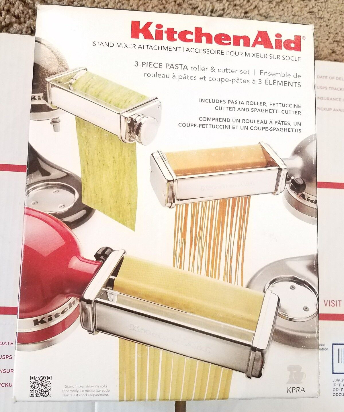 Kitchenaid KPRA Pasta Roller & Cutter Set- 3 Piece