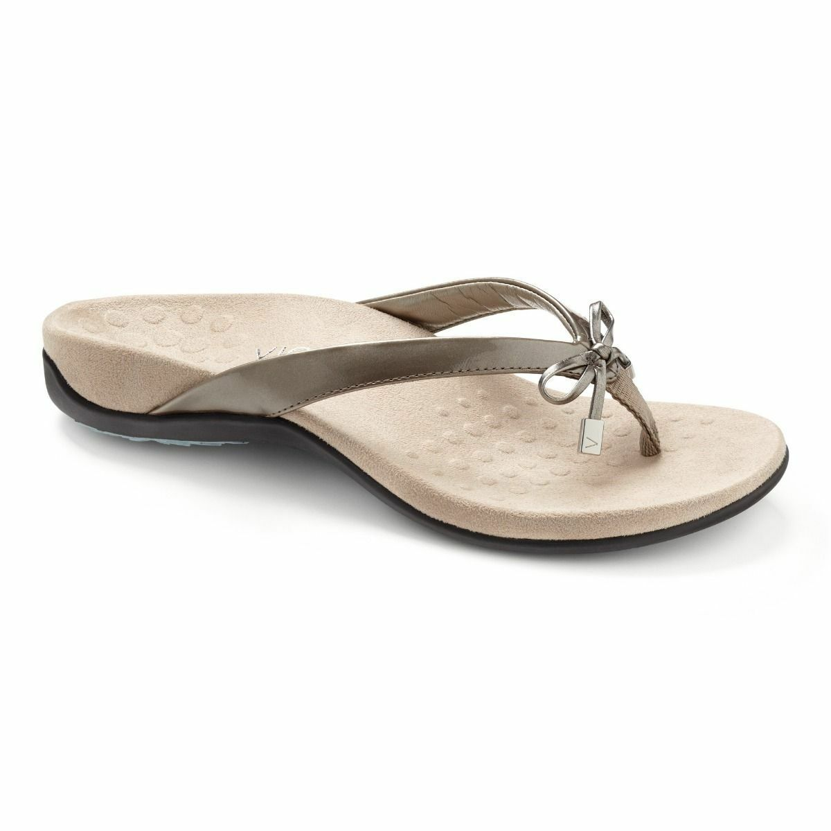 Vionic Orthotic Rest Bella Casual Thongs Sandals - Pewter