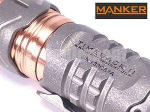 MANKER-TimeBack-II-Ti-Titanium-4x-Cree-XP-G3-LED-Spinner-Flashlight-STONEWASH