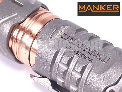 MANKER TimeBack II Ti Titanium 4x Cree XP-G3 LED Spinner Flashlight STONEWASH
