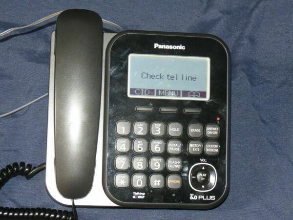 Panasonic KX-TG4771 B DECT6.0 Corded Phone Answering Machine Base