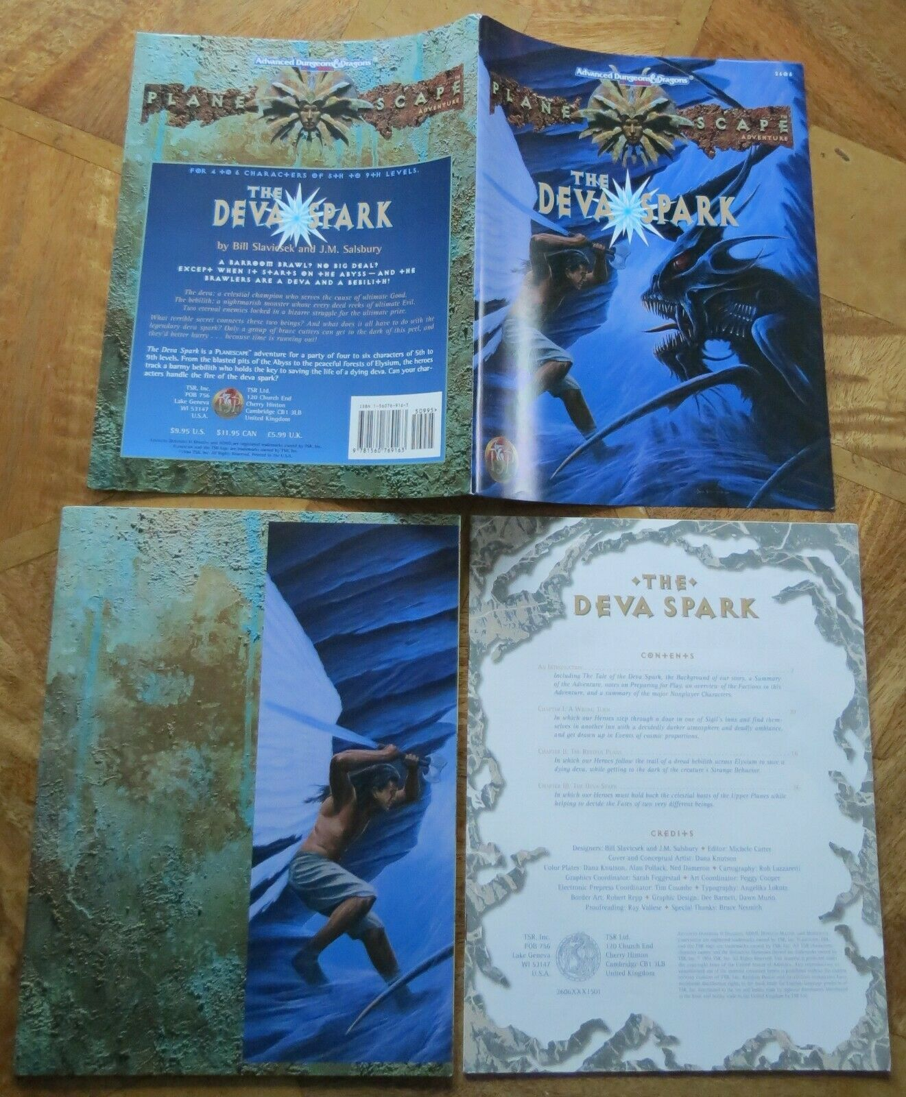 Planescape Adventure (AD& D 2nd Edition) The Deva Spark - Looks Unread