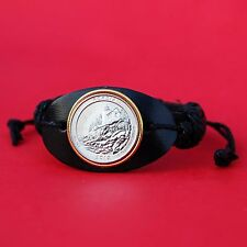 US 2012 Maine Acadia National Park Quarter Genuine Leather Bracelet