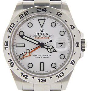 2b9a5123340 A imagem está carregando Big-Rolex-Aco-Inoxidavel-Relogio-Explorer-Ii-42mm-