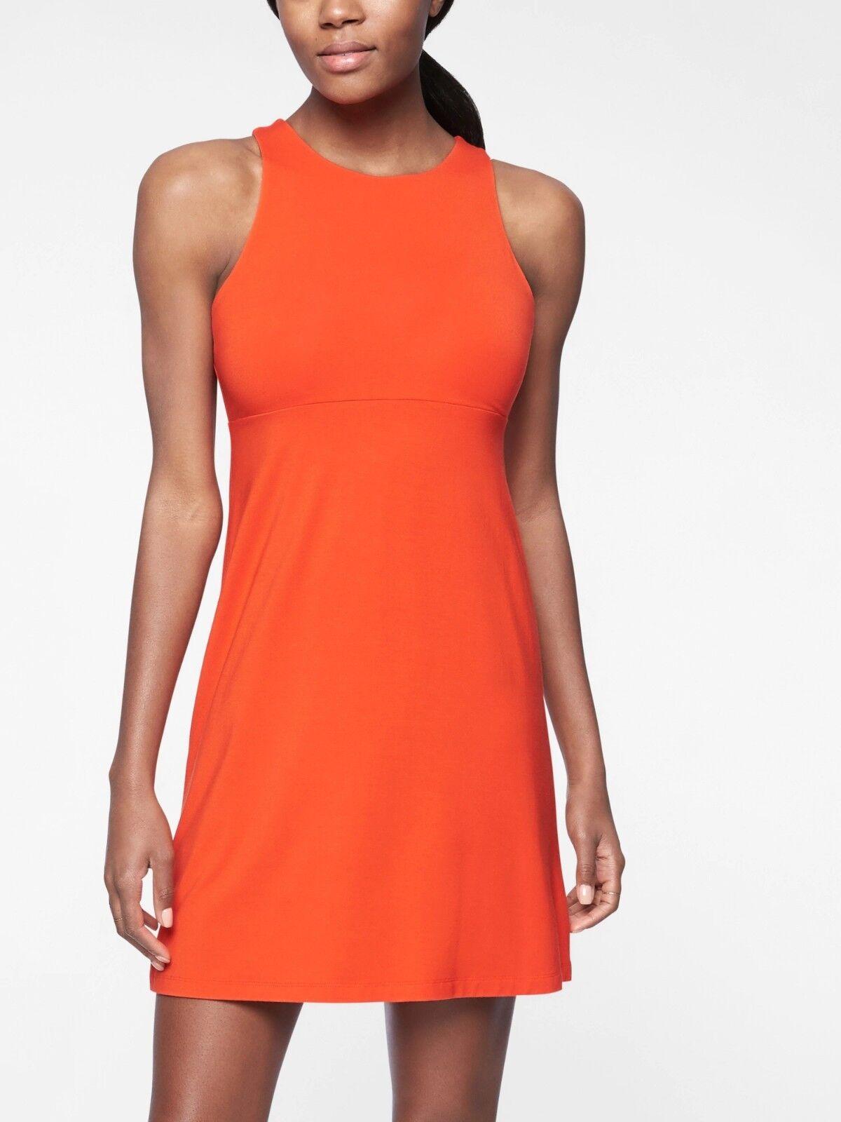 Athleta Santorini High Neck Solid Dress, On Fire Größe L         N0422