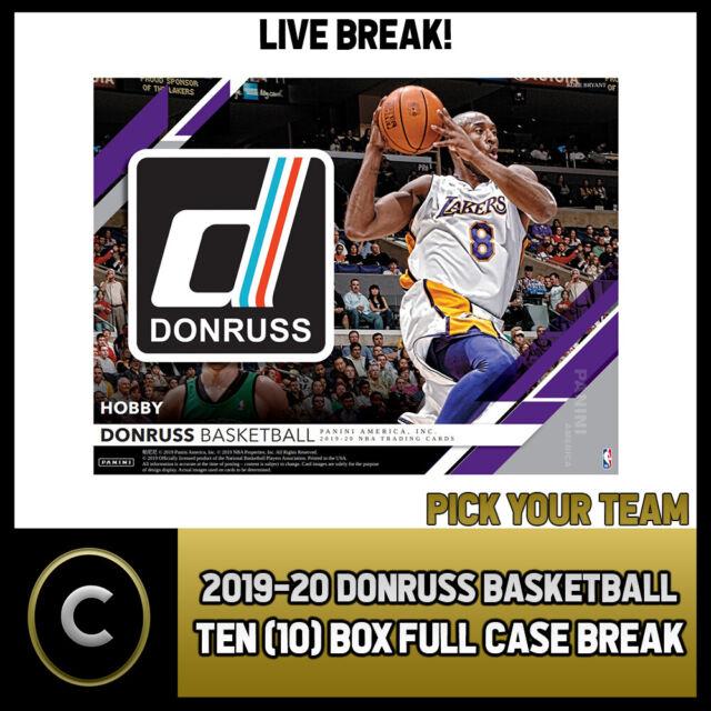 2019-20 DONRUSS BASKETBALL 10 BOX (FULL CASE) BREAK #B325 - PICK YOUR TEAM