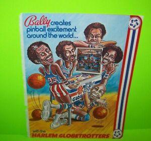 Harlem-Globetrotters-Pinball-FLYER-1979-Bally-Meadowlark-Lemon-Basketball-Art