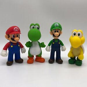 4x Super Mario Bros Mario Luigi Yoshi Koopa Troopa Pvc Figure