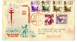 Sobre-primer-dia-sellos-de-Espana-1949-Pro-Tuberculosos-SPD