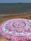 """Hippie Round Mandala Tapestry Wall Hanging Indian Beach Throw Ombre Yoga Mat 72"""""""