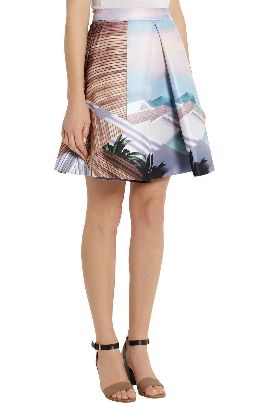 Nuevo  Mary Katrantzou Katmandú Impreso Plisada Falda Con Bolsillos-  comprar mejor