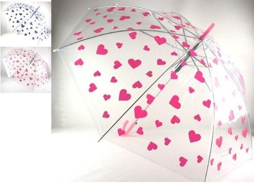 rot Herz Regenschirm Automatik transparent Herz rosa