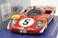 Fly A2006 Ferrari 512s Coda Lunga Le Mans 1970 1/32 Slot Car In Display Case