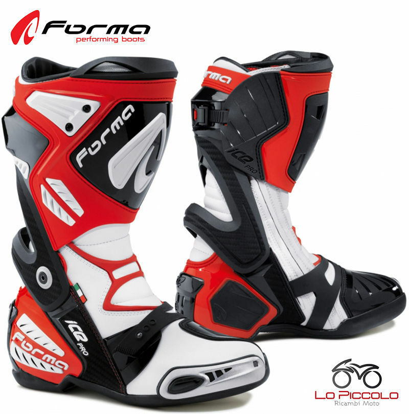 FORV220 10 Boots Red Forma Ice Pro Road Racing Driving Track Motorcycle Size 38