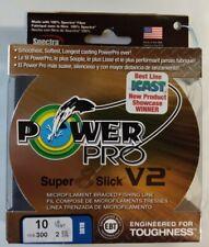 environ 6.80 kg Bobine 300 Yd environ 274.32 m vert mousse POWER PRO SUPER 8 SLICK V2 15 lb