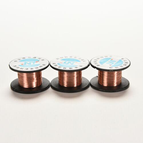 2 Pcs 0.1MM Copper Soldering Solder PPA Enamelled Repair Reel Wire B6 PVCA