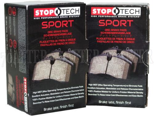 Stoptech Sport Brake Pads for 08-15 Lancer Evolution EVO X Front /& Rear Set