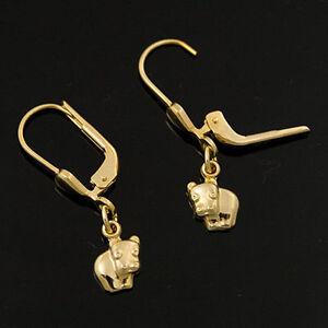 goldene-Ohrstecker-333er-Gold-8-Karat-Gelbgold-Nilpferd-Flusspferd-neu