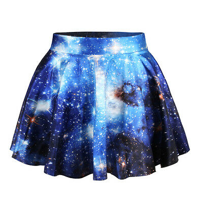2015 3D Graphic Print Gothic Cartoon Cute Punk Skater Pleat Costume School Skirt
