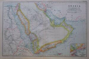 1919-MAP-ARABIA-IRAQ-MESOPOTAMIA-KOWEIT-OMAN-MASKAT-MOCHA-YEMEN