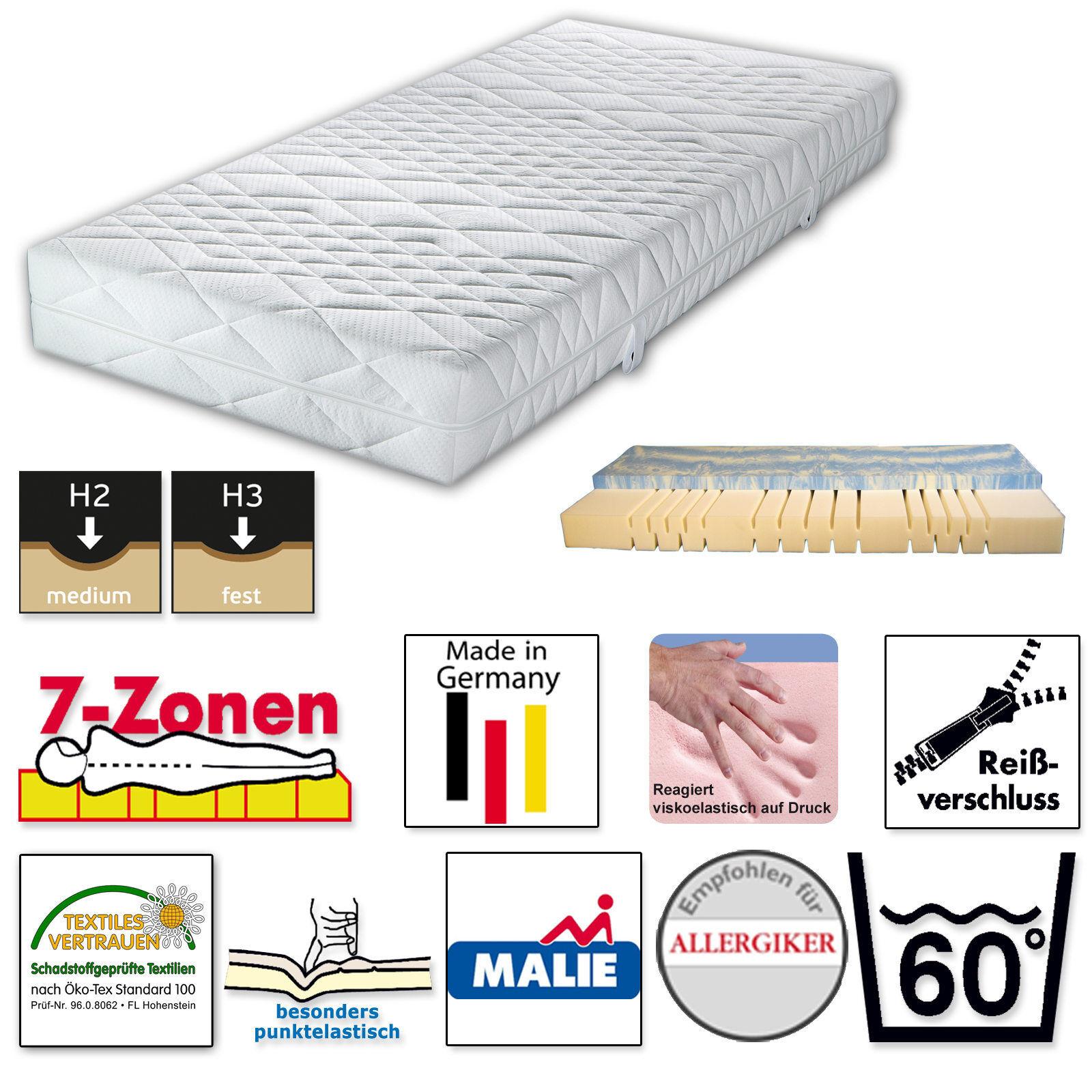 Malie Gelax® Maritim Gelschaummatratze 7-Zonen HärteGröße H2 und H3