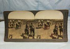 Antique Keystone Stereoview Card #16046 The 48th Highlanders of Toronto WW1