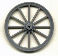 Large Wood Spoke Wheels 1/2 Scale Model Railroad Plastic Detail Part Gl3910