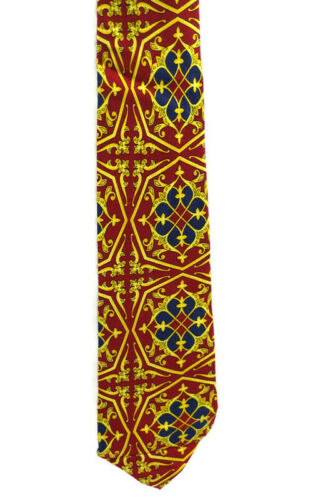 """Gianni Versace Vintage 90s Mens 57"""" Multicolor Red"""