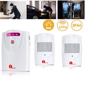1byone-Wireless-Driveway-Motion-Detector-Garage-Alarm-System-Two-Sensors-Alert