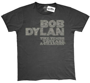 """Belle Bob Dylan """"times (look Vintage) T-shirt-nouveau & Officiel!-afficher Le Titre D'origine"""