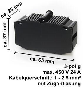 Verteilerdose 3 polig Kabelverbinder Dosenmuffe Verbindungsbox Connecotor Form