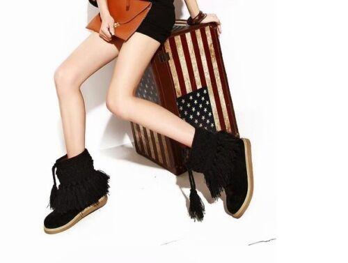Stivaletti stivali scarpe donna tacco 2 cm pelle sintetica caldi comodi 9054
