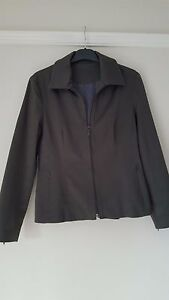 Smart-Principles-Petite-Fitted-Grey-Jacket-Fully-Lined-Size-12-VGC