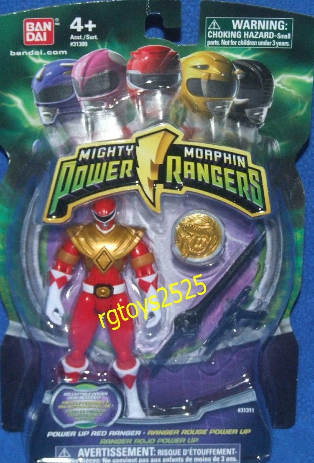 Mighty Morphin Power Rangers Red 4  Ranger New w Power Coin Factory Sealed 2010
