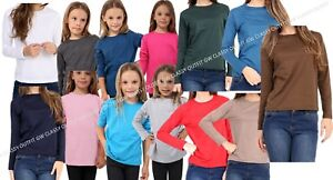 Top-Llano-Ninos-Ninas-Ninos-Camiseta-Larga-Ajuste-Teen-PE-Tops-Chaleco-de-3-a-14-anos