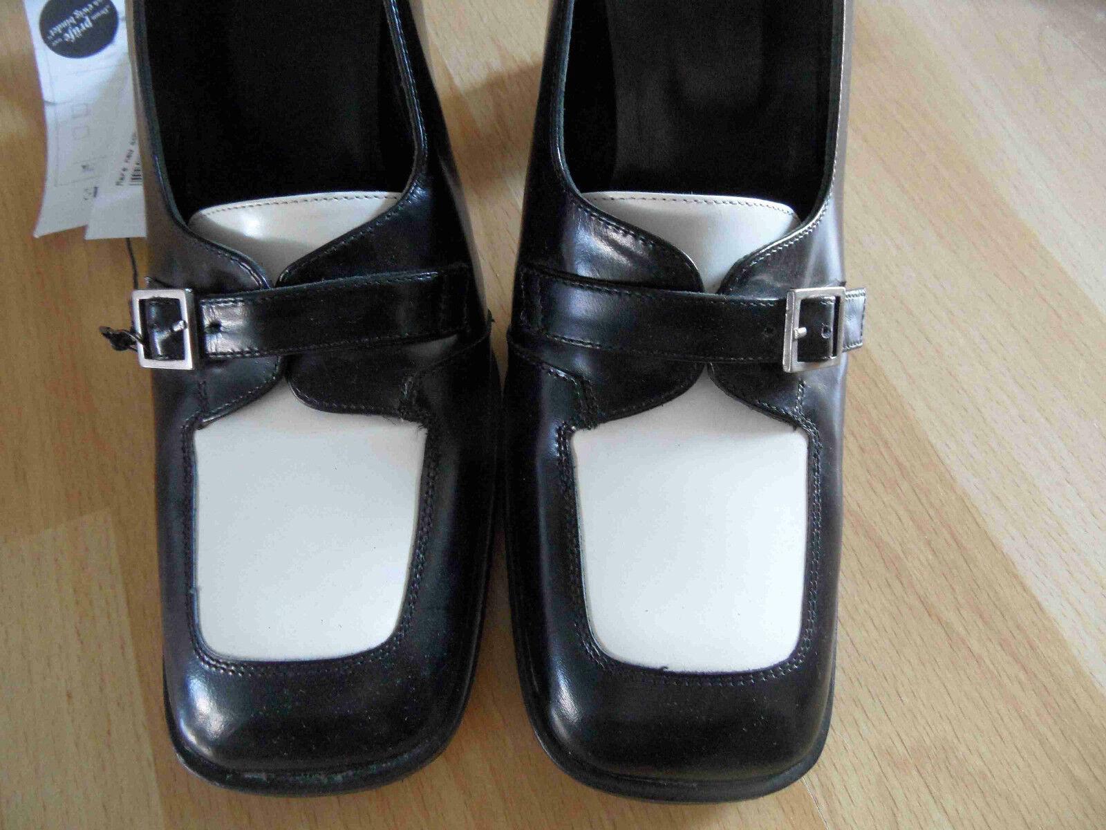 MARE Made in  Pumps im Stil Gr. eine Mokassins schwarz weiß Gr. Stil 37 NEU BB1114 115b9c