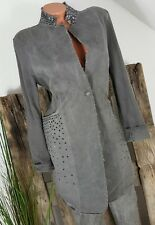 NEU ITALY VINTAGE TWO FACE LONG JACKET GEHROCK NIETEN WASHED GREY M 36 38