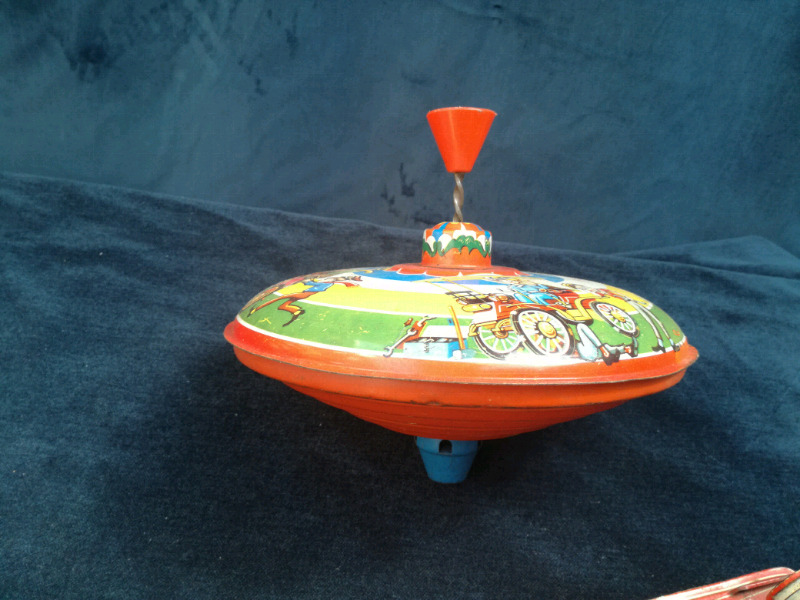 West Germany DPB Angeles tin toy spinning top