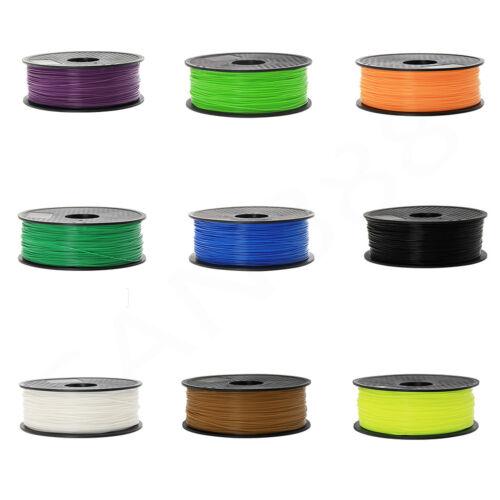 3D Printer Filament PLA 1.75mm 1kg/2.2lb For MakerBot multiple Colour US
