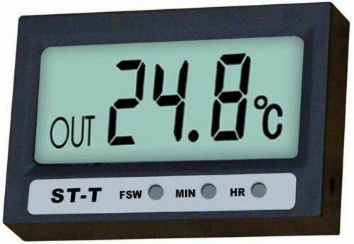 70 °C Auto kfz groß Uhr Digitalthermometer 20° IN OUT Thermometer digital LCD