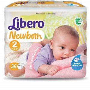 36pz Dünn Anzeige Cambio Starke Verpackung 3-6 Kg GroßZüGig Windeln Libero Neugeborenen Taglia 2