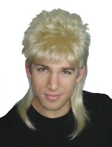 Mullet Wig Blonde Hair 70 s 80 s Bogan Men s Fancy Dress Costume Wig ... 9cb2bec6ad6c