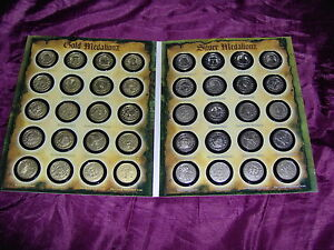 100% Vrai Full Set Ofgold & Rare Silver Coloured Medallionzs - Pirates Of The Caribbean