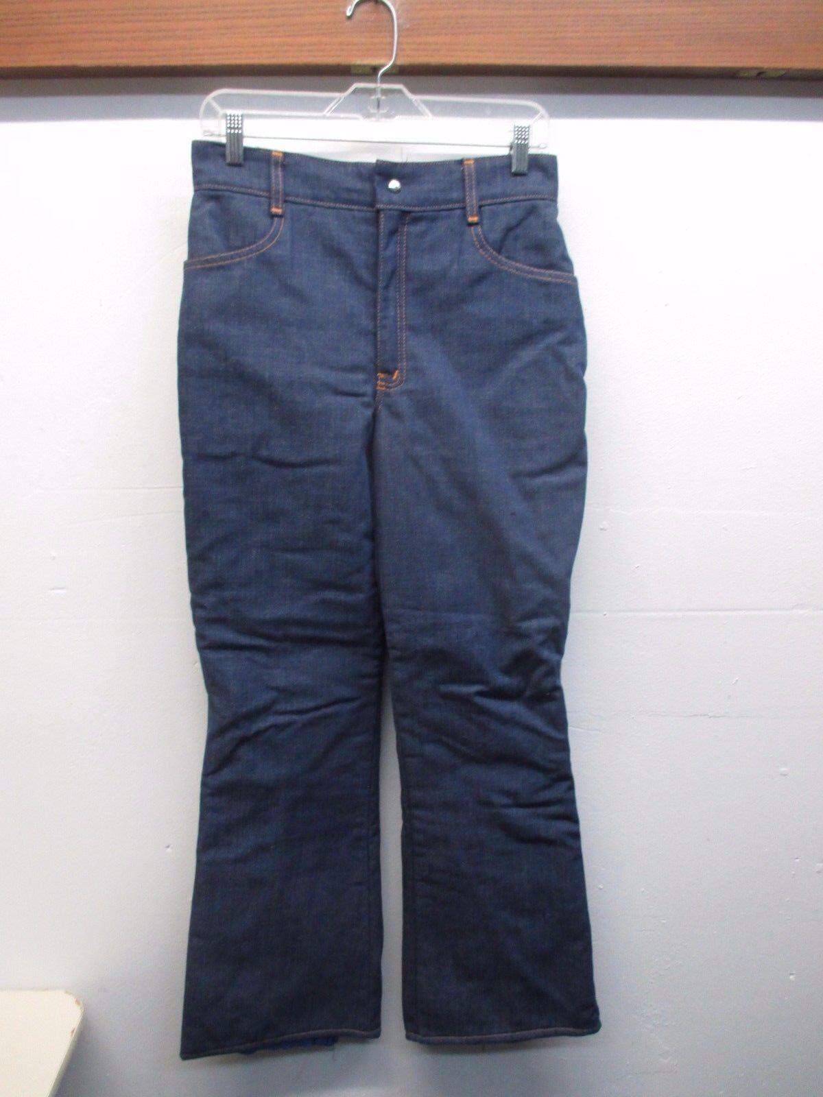 Athalon Products Women's 1970's Vintage Denim Shell  Snow Ski Pants (Size M)