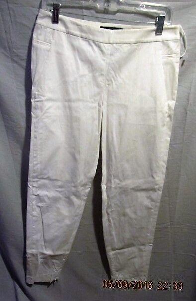 MAGASCHONI NEW YORK Weiß ANKLE DRESS PANTS SZ 6 NWOTS  129 RETAIL