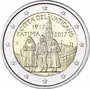 Vatikan-2-Euro-Erscheinung-von-Fatima-Gedenkmuenze-2017-Stempelglanz-im-Folder