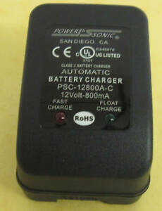 POWER-SONIC-SLA-BATTERY-CHARGER-PSC-12800A-C-12V-800-Mah-110-240VAC-50-60Hz