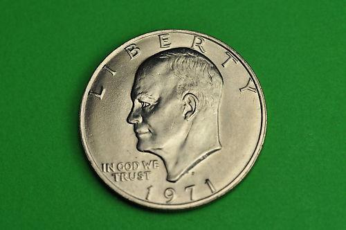 1971-D  AU  About  Uncirculated Eisenhower US Dollar