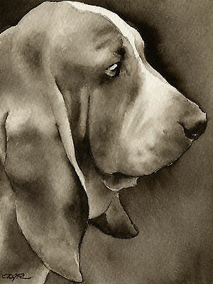 Bassetts by Greg Alexander 11x14 Basset Hound Puppy Poster DOG ART PRINT