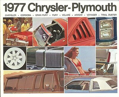1977 Chrysler-Plymouth Brochure Chrysler//Cordoba//Gran Fury//Arrow//Trail Duster+++